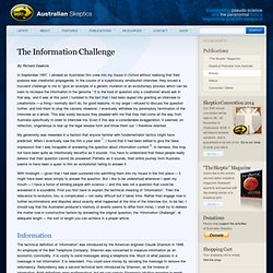 The Information Challenge