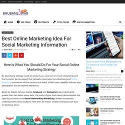 Best Online Marketing Idea For Social Marketing Information - BhubaneswarSEO