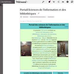 Portail:Sciences de l'information et des bibliothèques - Wikiwand