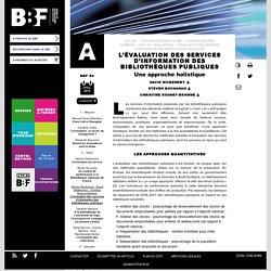 L'évaluation des services d'information des bibliothèques publiques
