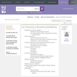 Mener une recherche d'information - Mener une recherche efficace - Tutoriels at Bibliothèques de l'universite Rennes 2