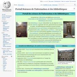Portail:Sciences de l'information et des bibliothèques
