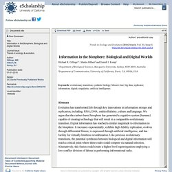 Information in the Biosphere: Biological and Digital Worlds