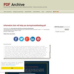 Information that will help you during breastfeeding .pdf - PDF Archive