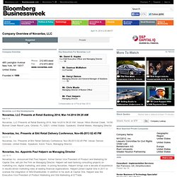 Novantas, LLC: Private Company Information - BusinessWeek