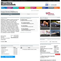 SlideShare, Inc.: Private Company Information - BusinessWeek