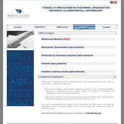 Bureau van Dijk Information Management (BVDIM): emplois et candidatures