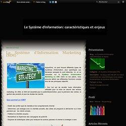 Le Système d'Information Marketing (SIM) - Le Système d'Information: caractéristiques et enjeux