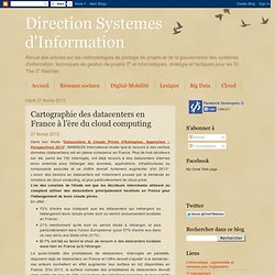 Cartographie des datacenters en France à l'ère du cloud computing