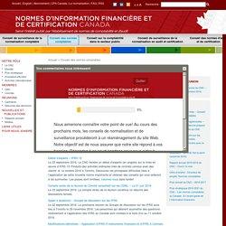 Normes d'information financière et de certification Canada