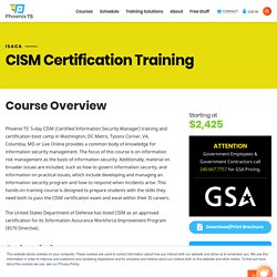 Certified Information Security Manager (CISM) Certification Training