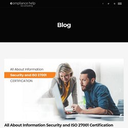 All About Information Security and ISO 27001 Certification