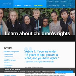 Child rights information for children - UNICEF Australia