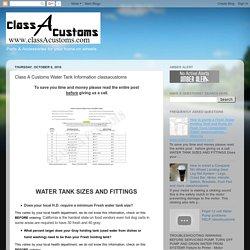 Class A Customs Water Tank Information classacustoms