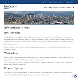 Information for New Clients