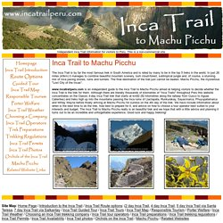 Inca Trail to the Inca Trail P