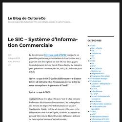 Le SIC – Système d'Information Commerciale