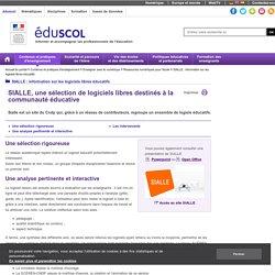 SIALLE : information sur les logiciels libres éducatifs - SIALLE, une sélection de logiciels libres destinés à la communauté éducative