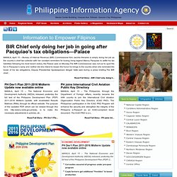 PIA daily news in English, Tagalog, Cebuano, Hiligaynon, Ilocano, Waray, Pangalatok from around the Philippines