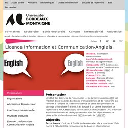 Licence Information et Communication-Anglais