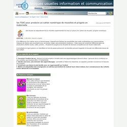 techniques usuelles information et communication - les TUIC pour produire un cahier numérique de réussites et progrès en maternelle