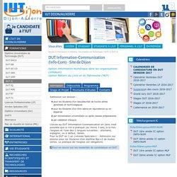 DUT Information-Communication (Info-Com) - Site de Dijon - IUT Dijon/Auxerre