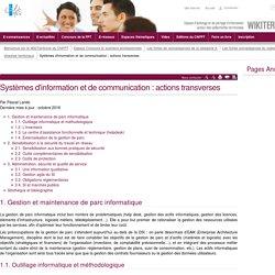 Systèmes d'information et de communication : actions transverses (vitrine.Systèmes d'information et de communication : actions transverses) - CNFPT