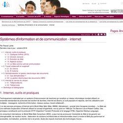 Systèmes d'information et de communication - internet (vitrine.Systèmes d'information et de communication - internet) - CNFPT