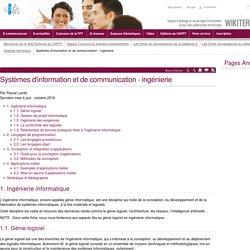 Systèmes d'information et de communication - ingénierie (vitrine.Systèmes d'information et de communication - ingénierie) - CNFPT