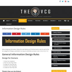 Information Design Rules – The Visual Communication Guy: Designing Information to Engage, Educate, and Inspire People
