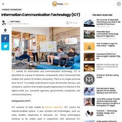 Information Communication Technology (ICT) - WriteUpCafe.com