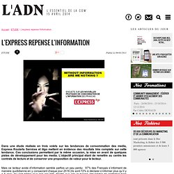 Etudes - L'express repense l'information