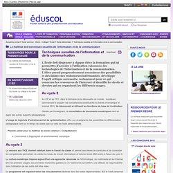 Techniques usuelles de l'information et de la communication - Techniques usuelles de l'information et de la communication