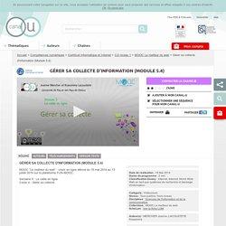 Gérer sa collecte d'information (Module 5.4) - Compétences numériques