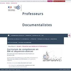 Education aux médias et à l'information > Curriculum de compétences en EMI et séquences-séances