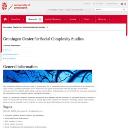 Groningen Center for Social Complexity Studies