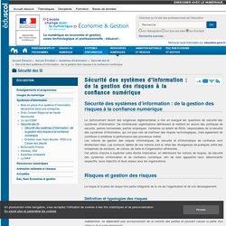 Sécurité des systèmes d'information : de la gestion des risques à la confiance numérique — ÉcoGest