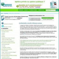 Sécurité Information Personnelle : Vie Privée / Vie Publique : Vol De Données Facebook - Confidentialité Réseaux Sociaux