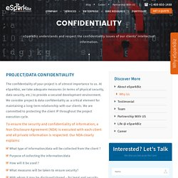 eSparkBiz maintains client's project and information confidentiality
