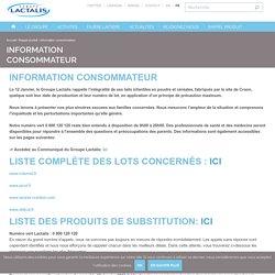 Information consommateur - Lactalis