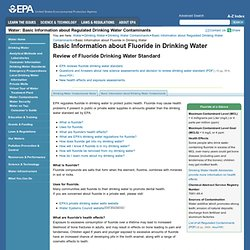 EPA 21/05/12 Basic Information about Fluoride in Drinking Water