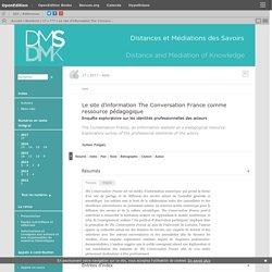 Le site d'information The Conversation France comme ressource pédagogique