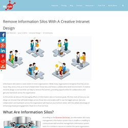 Remove Information Silos With A Creative Intranet Design