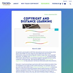 Copyright and Distance Learning Information: Tips & Resources for Educators : Copyright & Creativity