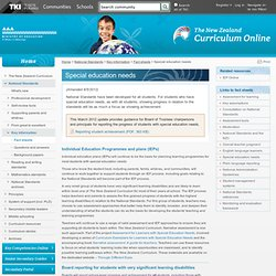 Special education needs / Fact sheets / Key information / National Standards / The New Zealand Curriculum Online - NZ Curriculum Online