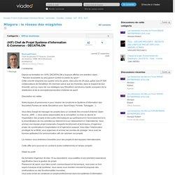 (H/F) Chef de Projet Système d'Information E-Commerce - DECATHLON - Miagora : le réseau des miagistes sur Viadeo.com