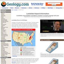 Geology.com Landslide Hazard Information - Causes, Pictures, Definition
