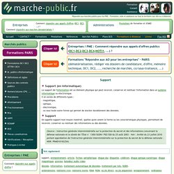 Support information JO journal officiel marches publics definition