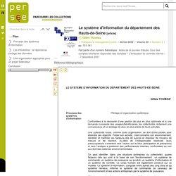 Le système d'information du département des Hauts-de-Seine - 2002