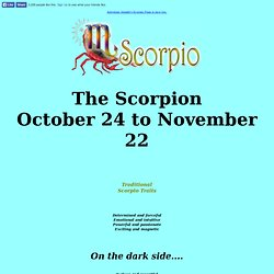 Scorpio information - Complete sun sign description